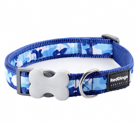 Blue Camouflage Dog Collar